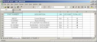 Bom Template Excel Ms Excel 2003 Copy Data To Various Sheets Based On The Value In