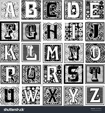 Decorative Styles Decorative Letters Variety Styles Particularly Suited Stock Vector