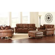 Loveseat Ottoman Silverado Loveseat U0026 Sofa Set Caramel Brown Leather Dcg Stores