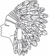 coloring pages of indian feathers embroidery design art ideas pinterest embroidery designs