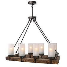 lnc wood chandeliers kitchen island chandelier lighting 8 light