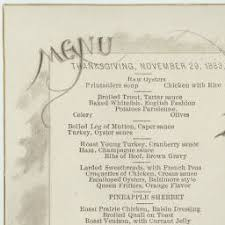 unlv libraries digital collections thanksgiving menu november 29