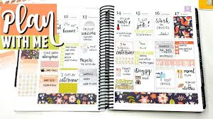 fall themed spread plan with me erin condren life planner plan