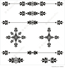 abstract forms bar decoration ornamental line scroll stock