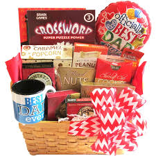 s day basket s day salty and sweet gift basket with puzzle books for