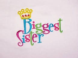 Custom Embroidery Shirts Home Big Sister Little Sister Custom Embroidered Biggest