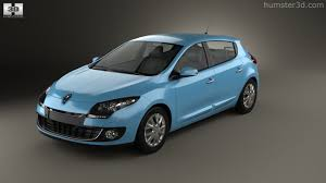 renault megane 2013 360 view of renault megane 5 door hatchback 2013 3d model hum3d