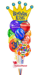 custom balloon bouquet delivery birthday king balloon bouquet custom name age rainbow prints 12