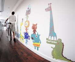 Fabric Wall Decals For Nursery Free Shipping Large Colorful Jungle Animals Fabric Wall Decals