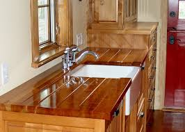 custom wood countertop options drainboards