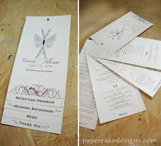 layered wedding programs wedding program papercake designs