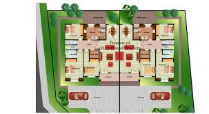 semi detached house layout plan home deco plans