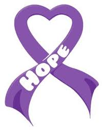purple ribbons cancer awareness purple ribbon feather vinyl decal courage