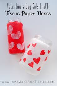 my very educated mother valentine u0027s day kids craft tissue paper