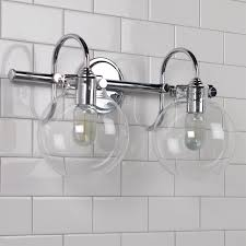 retro glass globe wall sconce shades of light