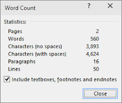 Count Word In Document The Word Count And More Word