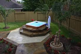 backyard tub landscaping ideas home outdoor decoration