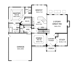 colonial style house plan 3 beds 2 5 baths 2256 sq ft plan 1010