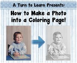 coloring page how to make a photo into a coloring page coloring