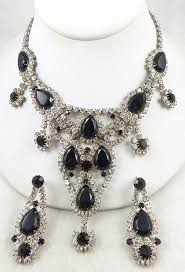 black rhinestone necklace images Dominique black rhinestone necklace set garden party collection jpg