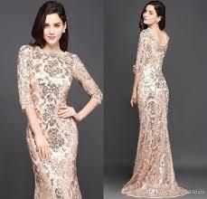 2018 special design rose gold designer occasion dresses mermaid