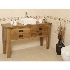 Valencia Bathroom Furniture Valencia Rustic Oak Bathroom Vanity Unit Best Price Guarantee