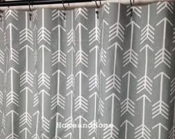 Gray Fabric Shower Curtain Extra Long Fabric Shower Curtain Open Travel