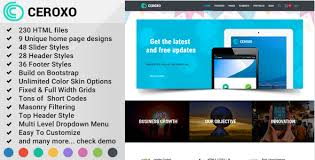 bootstrap themes header ceroxo bootstrap responsive multi purpose html5 template by