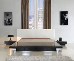 Contemporary Platform Bed Modern Platform Bed With Lighting Cr908 Contemporary Bedroom