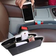 seat amazon com opar black car seat side pocket caddy car seat slit