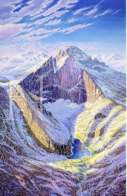 Colorado Ski Map by Longs Peak Colorado James Niehues Map Artist Ski Maps