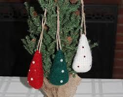 knit christmas tree etsy