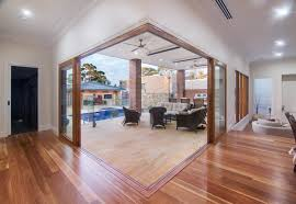 Timber Patios Perth by Timber Stacker Doors Create An Open Corner To Outside Sketch