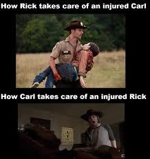 Carl Rick Meme - the walking dead carl meme google search the walking dead board