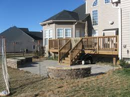 deck and stone patio like it off the deck but needs to be a