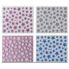 1x new glitter shinning star designs nail decals 3d nail art