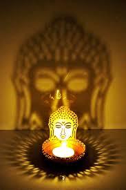 buy hashcart shadow gautam buddha tea light candle holder for home