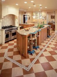 cottage style kitchen ideas amazing printed floor tiles with modern recessed lightings