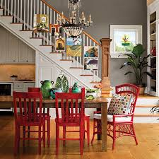 Stylish Dining Room Decorating Ideas Southern Living - Red dining room chairs