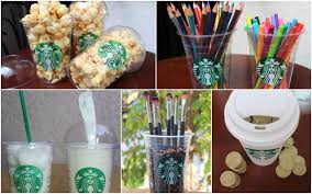 diy room decorations containers using starbucks cups youtube