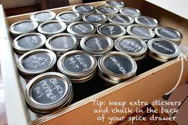 Spice Rack In A Drawer A Spice Storage Idea Using Chalkboard Paint