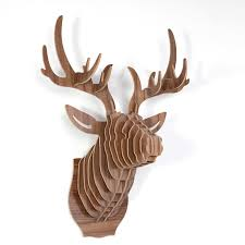 wooden stag wall buy walnut deer from oliver bonas living room