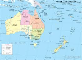 map of australia political political map of oceania