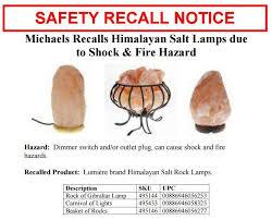 himalayan salt l recall michaels recalls salt ls for shock fire hazard ktvbcom