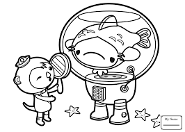 Coloring Pages Cartoons Octonauts Anemone Hat Party Colorpages7 Com Octonauts Coloring Pages
