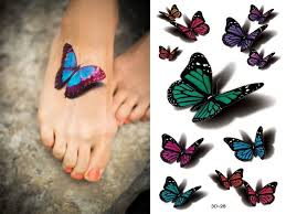colorful butterfly tattoos on 85 3d butterfly tattoos black