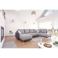 canape bicolore design minty panoramique droit canapé d angle convertible bobochic