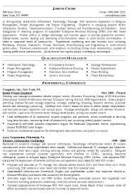 sle cv for information technology manager graph awesome professional resume outline exles of resumes tech