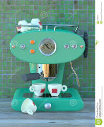 vintage espresso maker aqua espresso machine stock illustration image of button 2948202