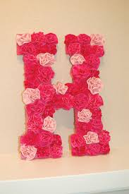 15 chic diy decor projects for lovers of pink view in gallery floral letter wall decor